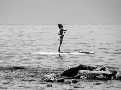 Emily paddleboard